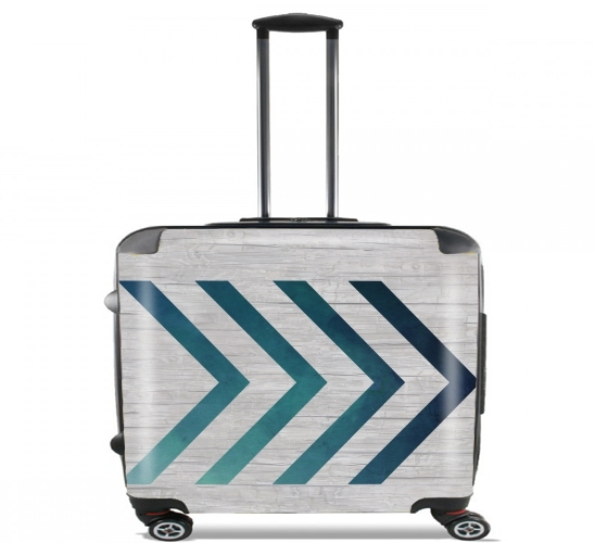 "Blue Arrow  for Wheeled bag cabin luggage suitcase trolley 17"" laptop"