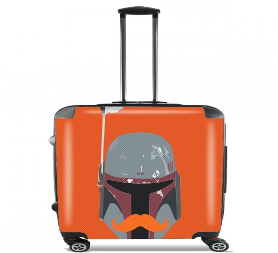 "Boba Stache for Wheeled bag cabin luggage suitcase trolley 17"" laptop"