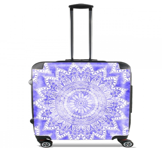 "Bohemian Flower Mandala in purple for Wheeled bag cabin luggage suitcase trolley 17"" laptop"
