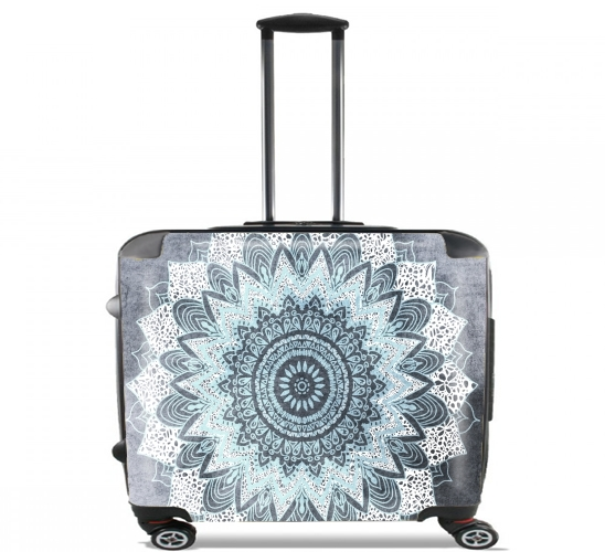 "Bohochic Mandala in Blue for Wheeled bag cabin luggage suitcase trolley 17"" laptop"