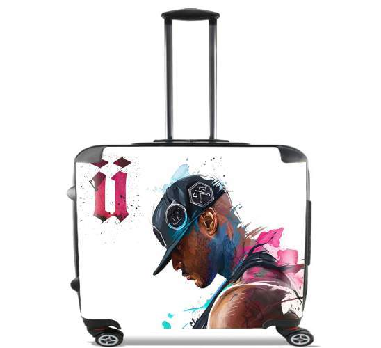 "Booba Fan Art Rap for Wheeled bag cabin luggage suitcase trolley 17"" laptop"