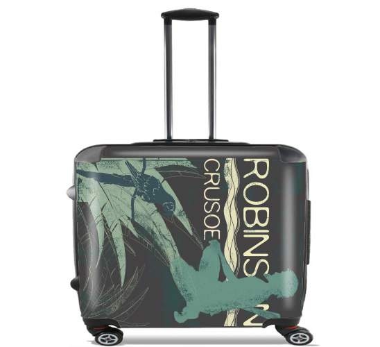 "Book Collection: Robinson Crusoe for Wheeled bag cabin luggage suitcase trolley 17"" laptop"