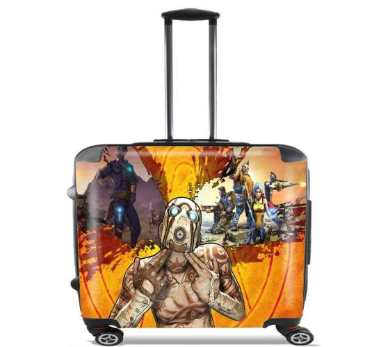 "Borderlands Fan Art for Wheeled bag cabin luggage suitcase trolley 17"" laptop"