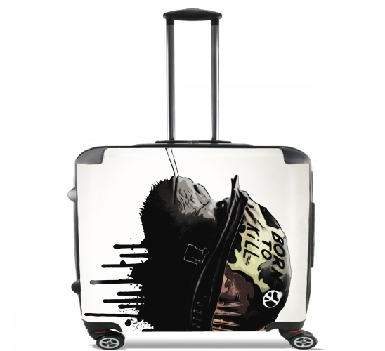 "Born To Kill for Wheeled bag cabin luggage suitcase trolley 17"" laptop"