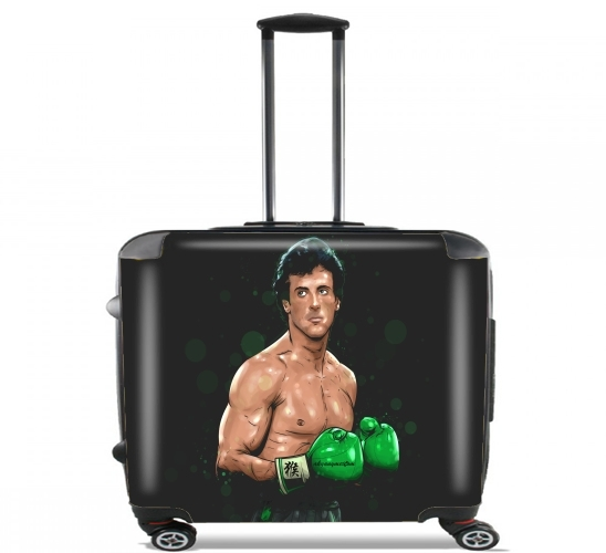"Boxing Balboa Team for Wheeled bag cabin luggage suitcase trolley 17"" laptop"