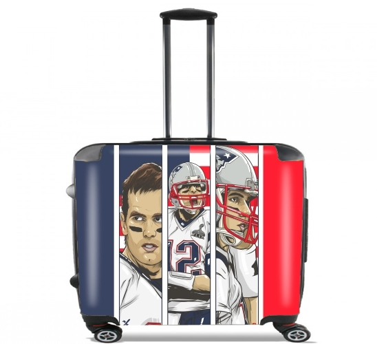 "Brady Champion Super Bowl XLIX for Wheeled bag cabin luggage suitcase trolley 17"" laptop"