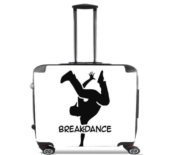 "Break Dance for Wheeled bag cabin luggage suitcase trolley 17"" laptop"