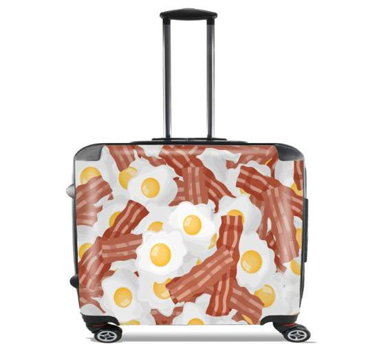 "Breakfast Eggs and Bacon for Wheeled bag cabin luggage suitcase trolley 17"" laptop"