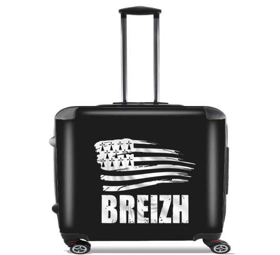 "Breizh Bretagne for Wheeled bag cabin luggage suitcase trolley 17"" laptop"