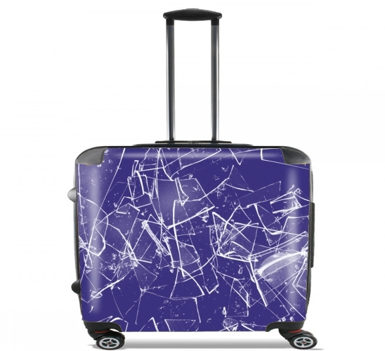 "broken glass for Wheeled bag cabin luggage suitcase trolley 17"" laptop"