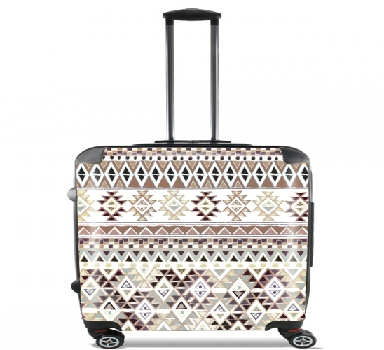 "BROWN TRIBAL NATIVE for Wheeled bag cabin luggage suitcase trolley 17"" laptop"