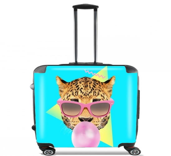 "Bubble gum leo for Wheeled bag cabin luggage suitcase trolley 17"" laptop"