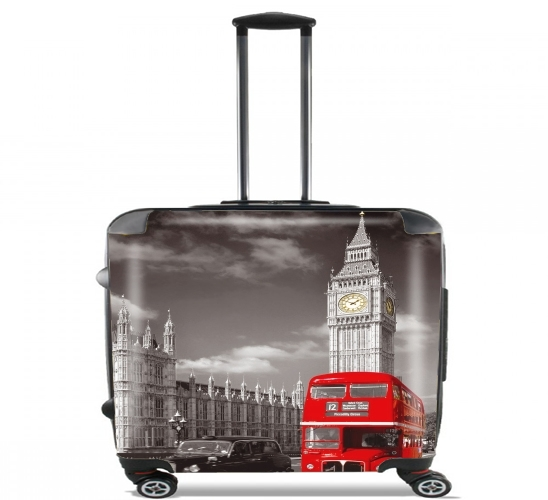 "Red bus of London with Big Ben for Wheeled bag cabin luggage suitcase trolley 17"" laptop"