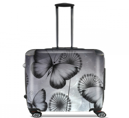 "Butterflies Dandelion for Wheeled bag cabin luggage suitcase trolley 17"" laptop"