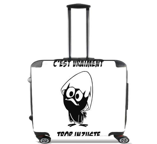 "Calimero Vraiment trop inzuste for Wheeled bag cabin luggage suitcase trolley 17"" laptop"