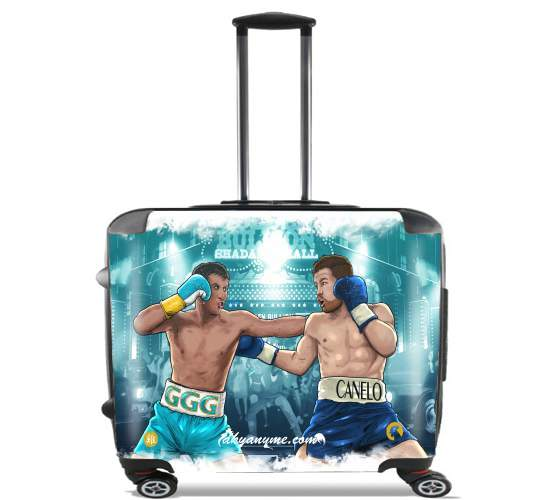 "Canelo vs Golovkin 16 September for Wheeled bag cabin luggage suitcase trolley 17"" laptop"