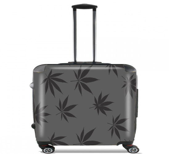 "Cannabis Leaf Pattern for Wheeled bag cabin luggage suitcase trolley 17"" laptop"