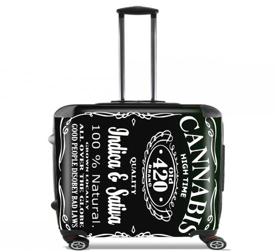 "Cannabis for Wheeled bag cabin luggage suitcase trolley 17"" laptop"
