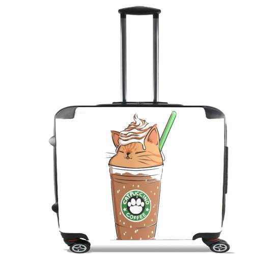 "Catpuccino Caramel for Wheeled bag cabin luggage suitcase trolley 17"" laptop"