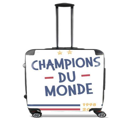 "Champion du monde 2018 Supporter France for Wheeled bag cabin luggage suitcase trolley 17"" laptop"