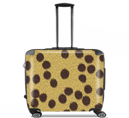 "Cheetah Fur for Wheeled bag cabin luggage suitcase trolley 17"" laptop"