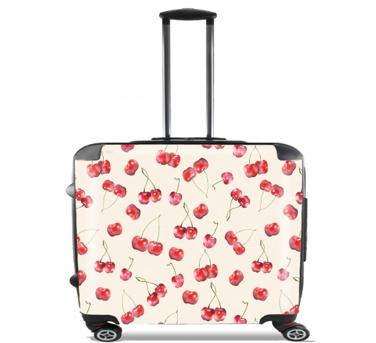 "Cherry Pattern for Wheeled bag cabin luggage suitcase trolley 17"" laptop"