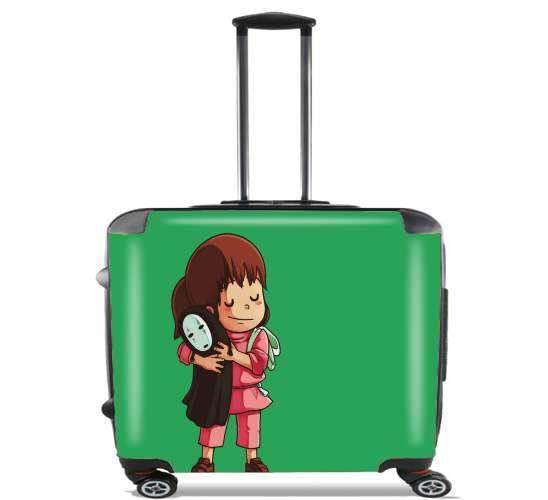 "Chihiro Free Hugs for Wheeled bag cabin luggage suitcase trolley 17"" laptop"