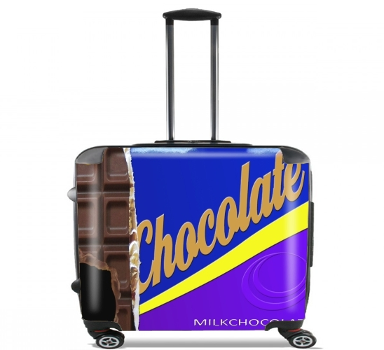 "Chocolate Bar for Wheeled bag cabin luggage suitcase trolley 17"" laptop"