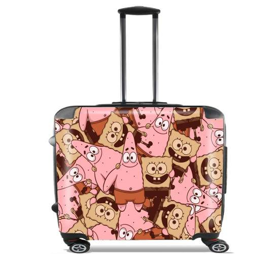 "Chocolate Bob and Patrick for Wheeled bag cabin luggage suitcase trolley 17"" laptop"