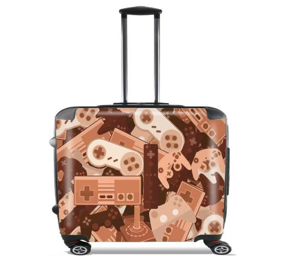 "Chocolate Gamers for Wheeled bag cabin luggage suitcase trolley 17"" laptop"
