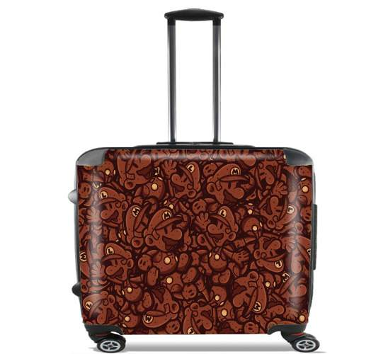 "Chocolate Mario  for Wheeled bag cabin luggage suitcase trolley 17"" laptop"