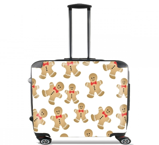 "Christmas snowman gingerbread for Wheeled bag cabin luggage suitcase trolley 17"" laptop"