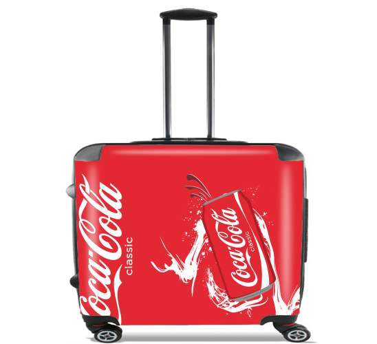 "Coca Cola Rouge Classic for Wheeled bag cabin luggage suitcase trolley 17"" laptop"