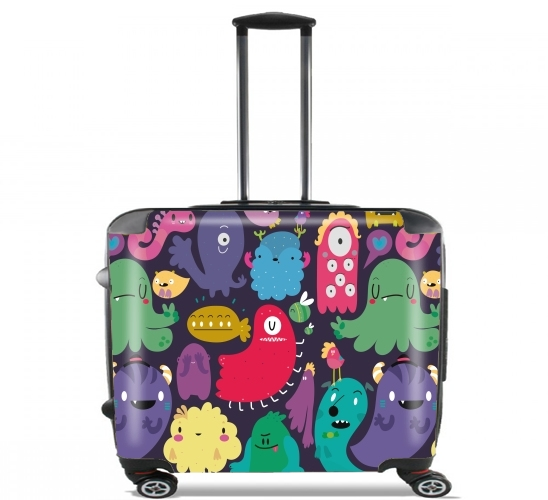 "Colorful Creatures for Wheeled bag cabin luggage suitcase trolley 17"" laptop"
