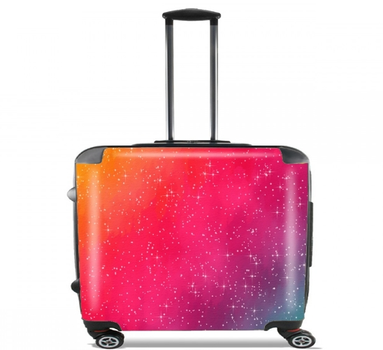 "Colorful Galaxy for Wheeled bag cabin luggage suitcase trolley 17"" laptop"