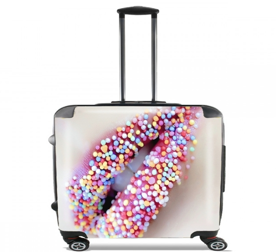 "Colorful Lips for Wheeled bag cabin luggage suitcase trolley 17"" laptop"