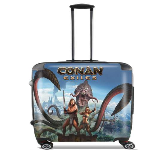 "Conan Exiles for Wheeled bag cabin luggage suitcase trolley 17"" laptop"