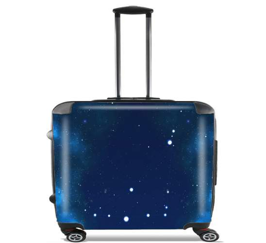 "Constellations of the Zodiac: Capricorn for Wheeled bag cabin luggage suitcase trolley 17"" laptop"