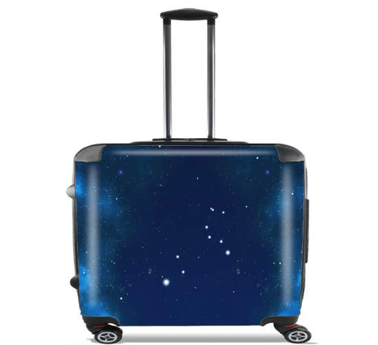 "Constellations of the Zodiac: Leo for Wheeled bag cabin luggage suitcase trolley 17"" laptop"