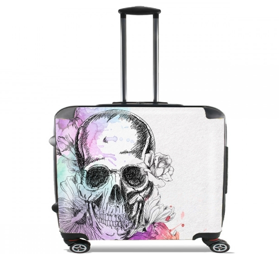 "Color skull for Wheeled bag cabin luggage suitcase trolley 17"" laptop"