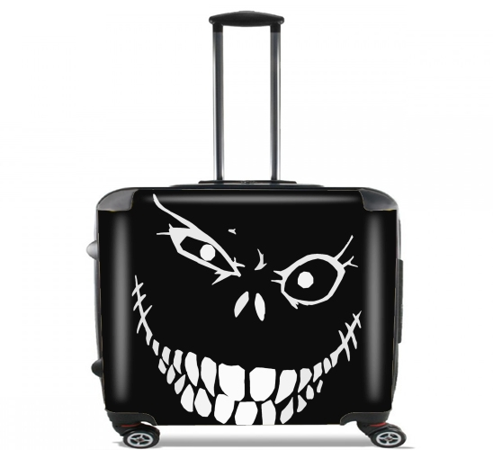 "Crazy Monster Grin for Wheeled bag cabin luggage suitcase trolley 17"" laptop"