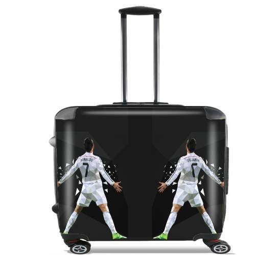 "Cristiano Ronaldo Celebration Piouuu GOAL Abstract ART for Wheeled bag cabin luggage suitcase trolley 17"" laptop"