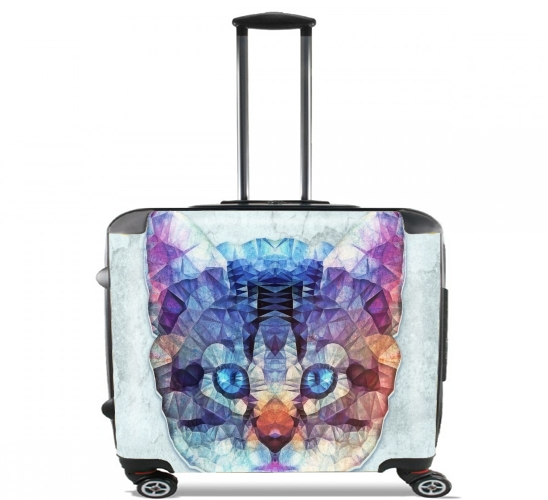 "cute kitten for Wheeled bag cabin luggage suitcase trolley 17"" laptop"