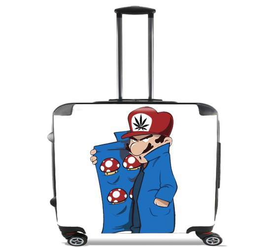 "Dealer Mushroom Feat Wario for Wheeled bag cabin luggage suitcase trolley 17"" laptop"