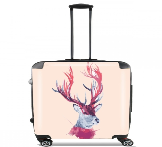 "Deer paint for Wheeled bag cabin luggage suitcase trolley 17"" laptop"