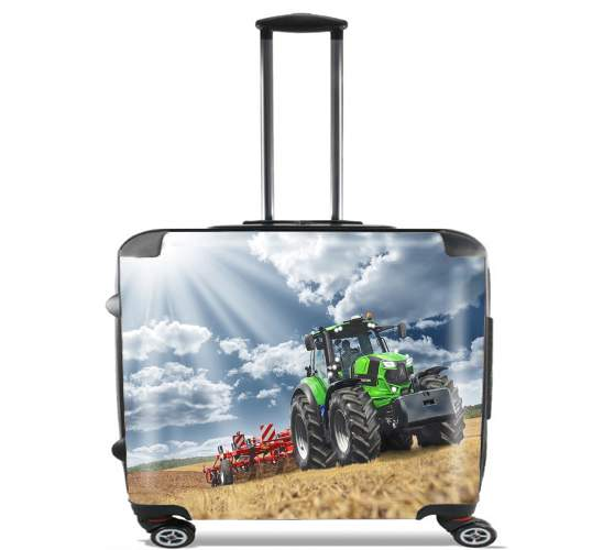 "deutz fahr tractor for Wheeled bag cabin luggage suitcase trolley 17"" laptop"