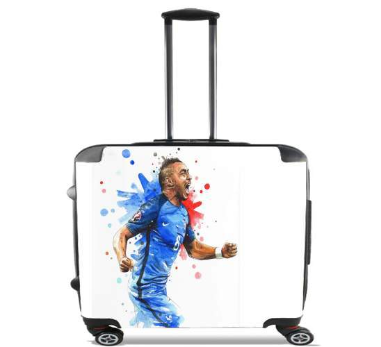 "Dimitri Payet Fan Art France Team  for Wheeled bag cabin luggage suitcase trolley 17"" laptop"