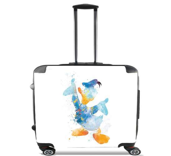 "Donald Duck Watercolor Art for Wheeled bag cabin luggage suitcase trolley 17"" laptop"