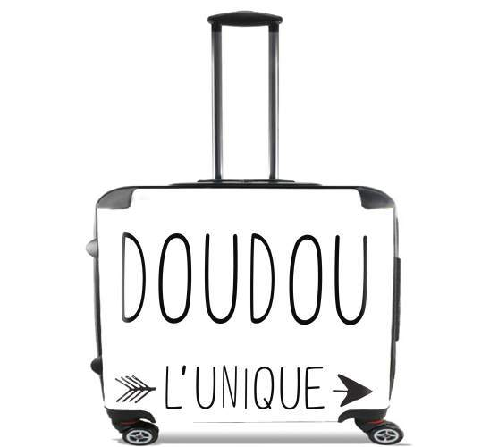 "Doudou l unique for Wheeled bag cabin luggage suitcase trolley 17"" laptop"