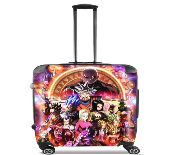 "Dragon Ball X Avengers for Wheeled bag cabin luggage suitcase trolley 17"" laptop"